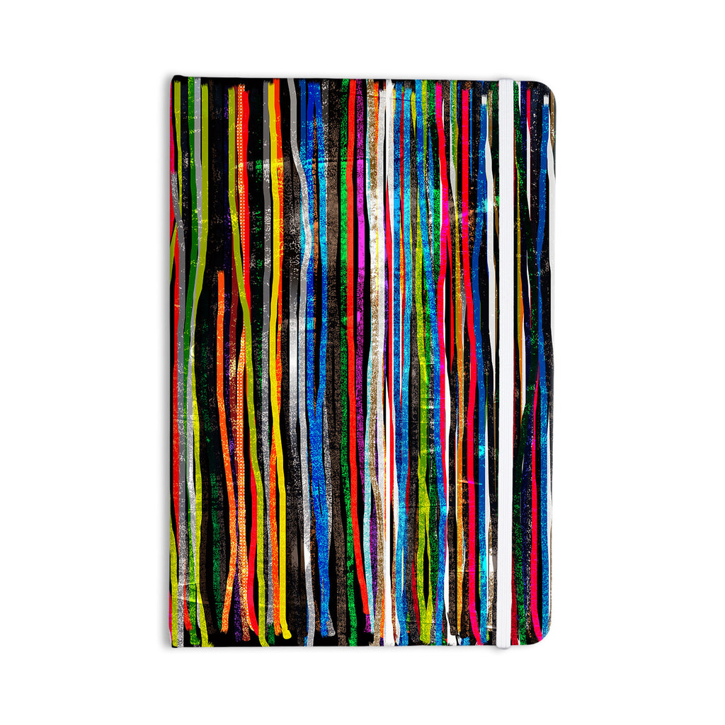 "Frederic Levy-Hadida ""Fancy Stripes Dark"" Everything Notebook - KESS InHouse  - 1"