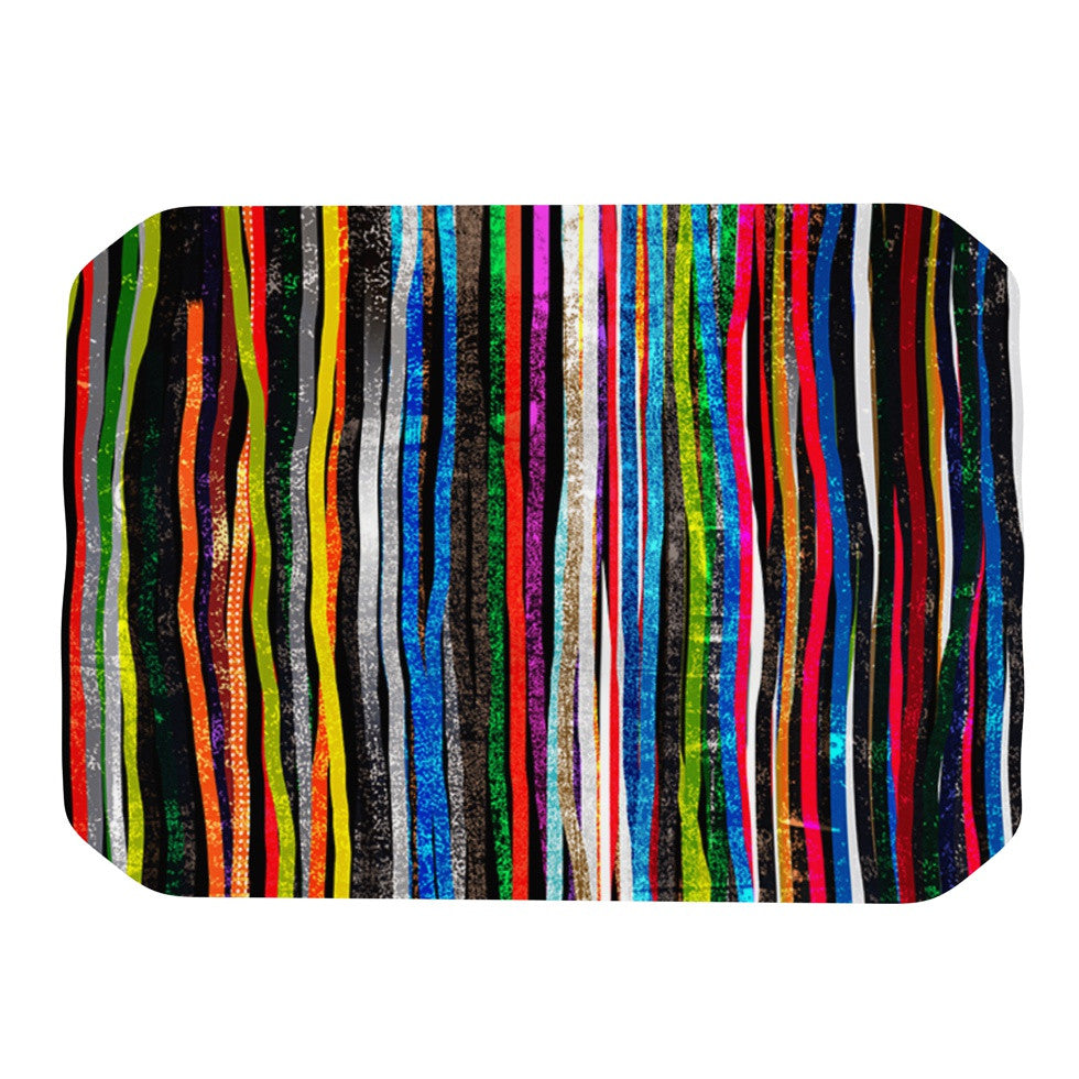 "Frederic Levy-Hadida ""Fancy Stripes Dark"" Place Mat - KESS InHouse"