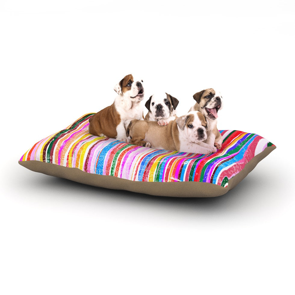 "Frederic Levy-Hadida ""Fancy Stripes Pastel"" Dog Bed - KESS InHouse  - 1"