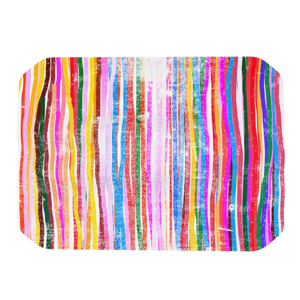 "Frederic Levy-Hadida ""Fancy Stripes Pastel"" Place Mat - KESS InHouse"