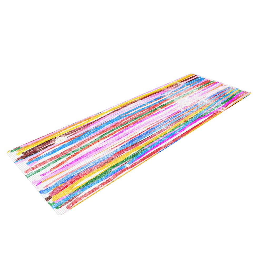 "Frederic Levy-Hadida ""Fancy Stripes Pastel"" Yoga Mat - KESS InHouse  - 1"