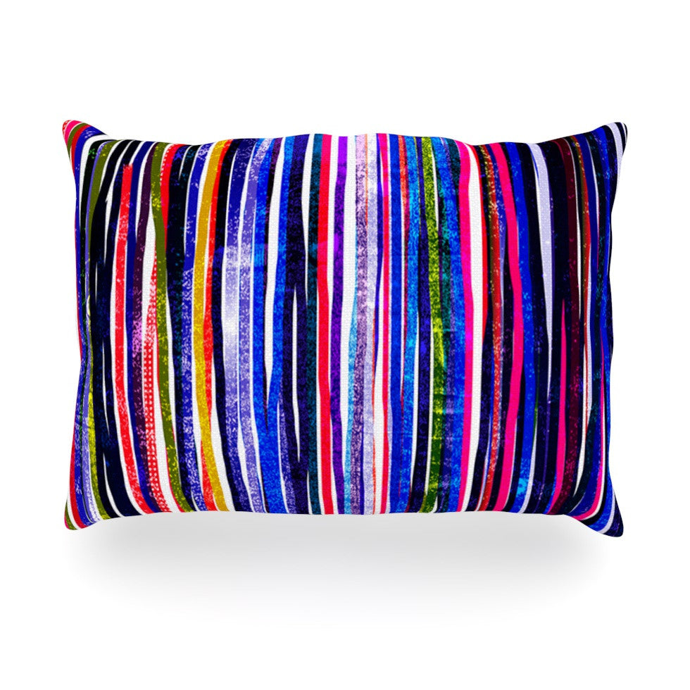 "Frederic Levy-Hadida ""Fancy Stripes Purple"" Oblong Pillow - KESS InHouse"