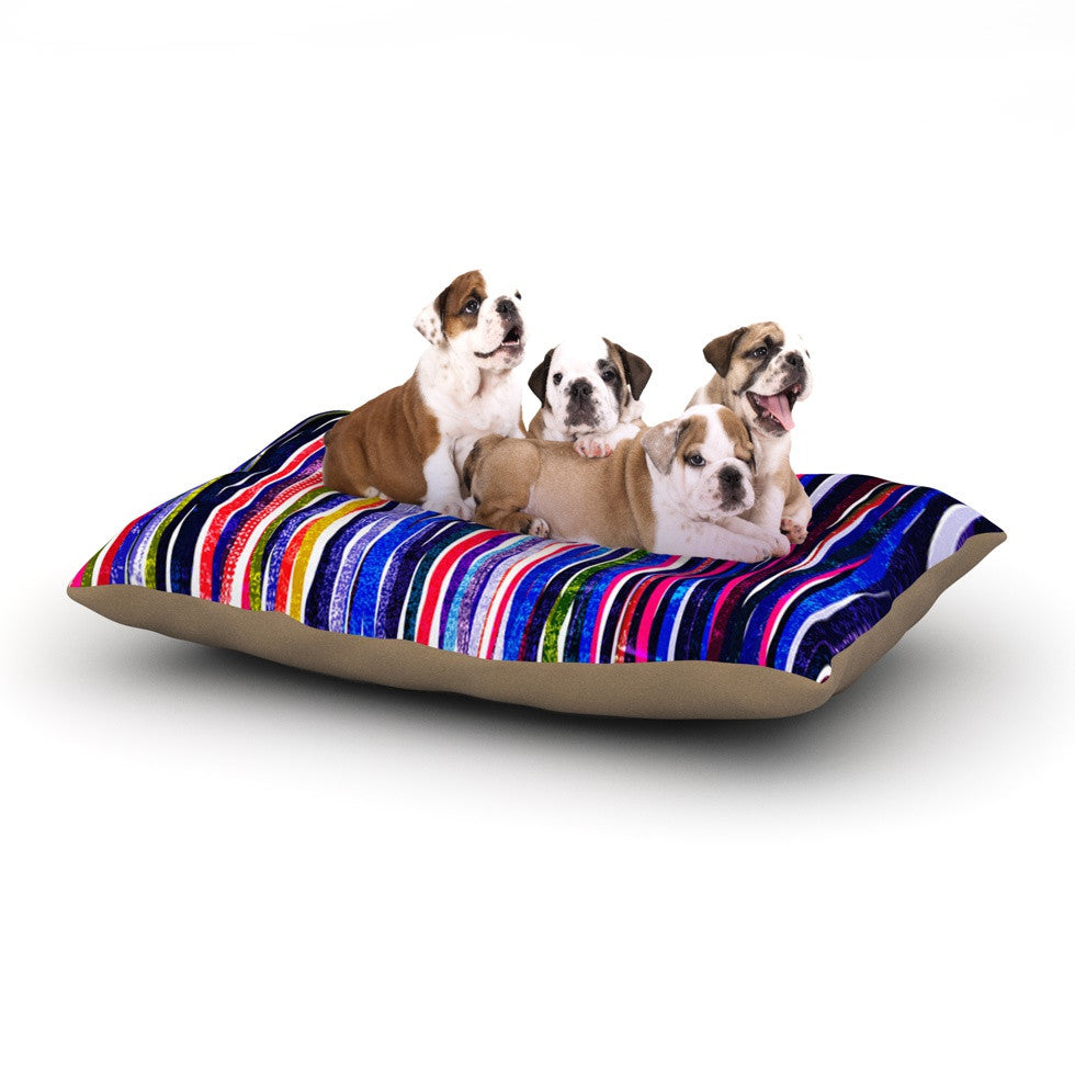 "Frederic Levy-Hadida ""Fancy Stripes Purple"" Dog Bed - KESS InHouse  - 1"