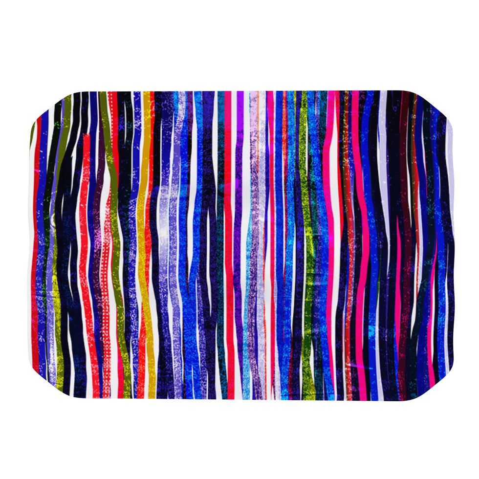 "Frederic Levy-Hadida ""Fancy Stripes Purple"" Place Mat - KESS InHouse"