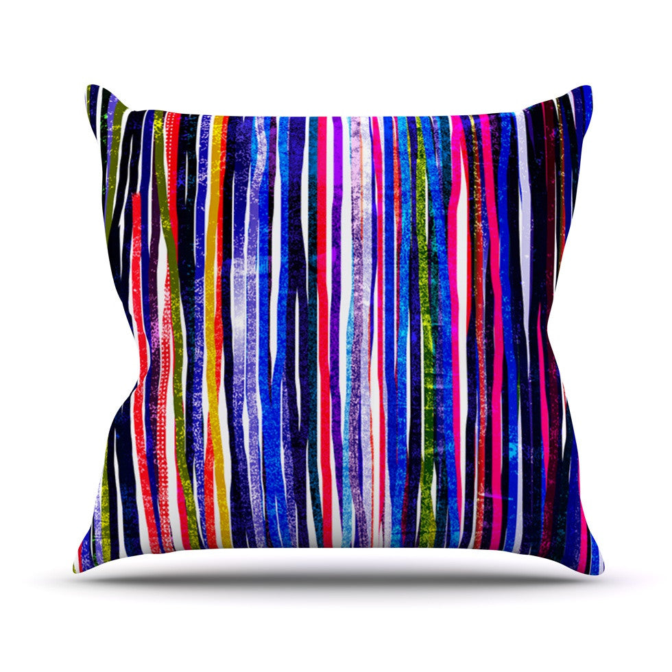 "Frederic Levy-Hadida ""Fancy Stripes Purple"" Throw Pillow - KESS InHouse  - 1"