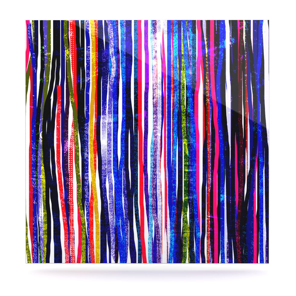 "Frederic Levy-Hadida ""Fancy Stripes Purple"" Luxe Square Panel - KESS InHouse  - 1"