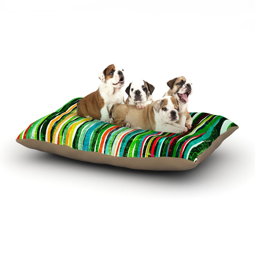 "Frederic Levy-Hadida ""Fancy Stripes Green"" Dog Bed - KESS InHouse  - 1"
