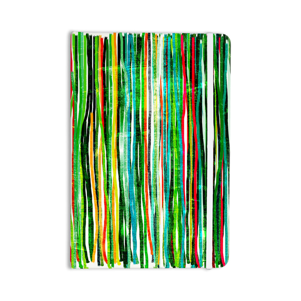 "Frederic Levy-Hadida ""Fancy Stripes Green"" Everything Notebook - KESS InHouse  - 1"