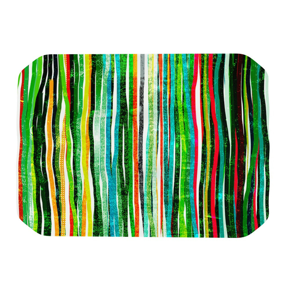 "Frederic Levy-Hadida ""Fancy Stripes Green"" Place Mat - KESS InHouse"