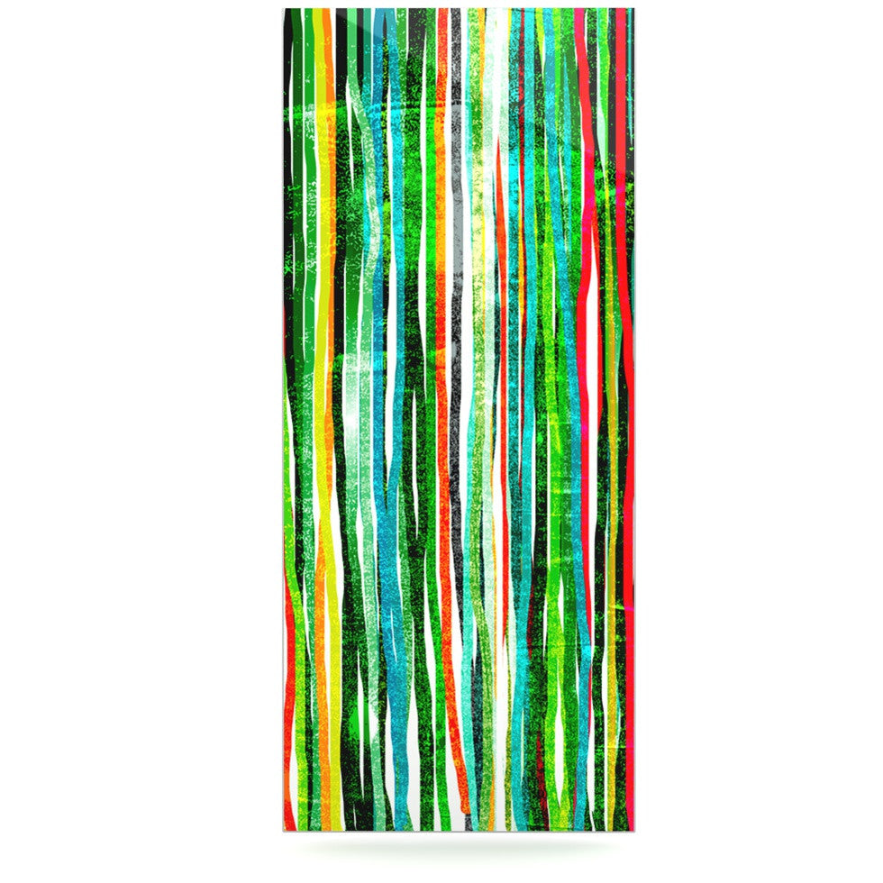 "Frederic Levy-Hadida ""Fancy Stripes Green"" Luxe Rectangle Panel - KESS InHouse  - 1"
