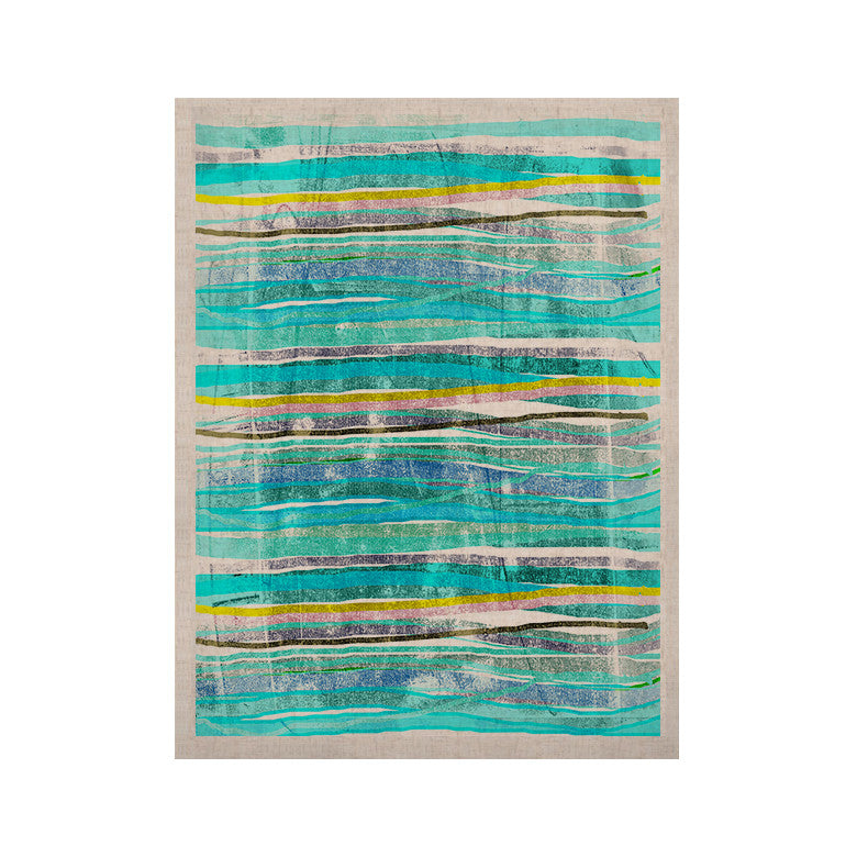 "Frederic Levy-Hadida ""Fancy Stripes Acqua"" KESS Naturals Canvas (Frame not Included) - KESS InHouse  - 1"