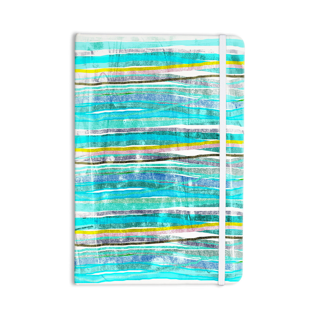 "Frederic Levy-Hadida ""Fancy Stripes Acqua"" Everything Notebook - KESS InHouse  - 1"