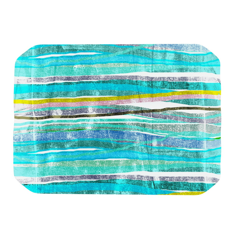 "Frederic Levy-Hadida ""Fancy Stripes Acqua"" Place Mat - KESS InHouse"
