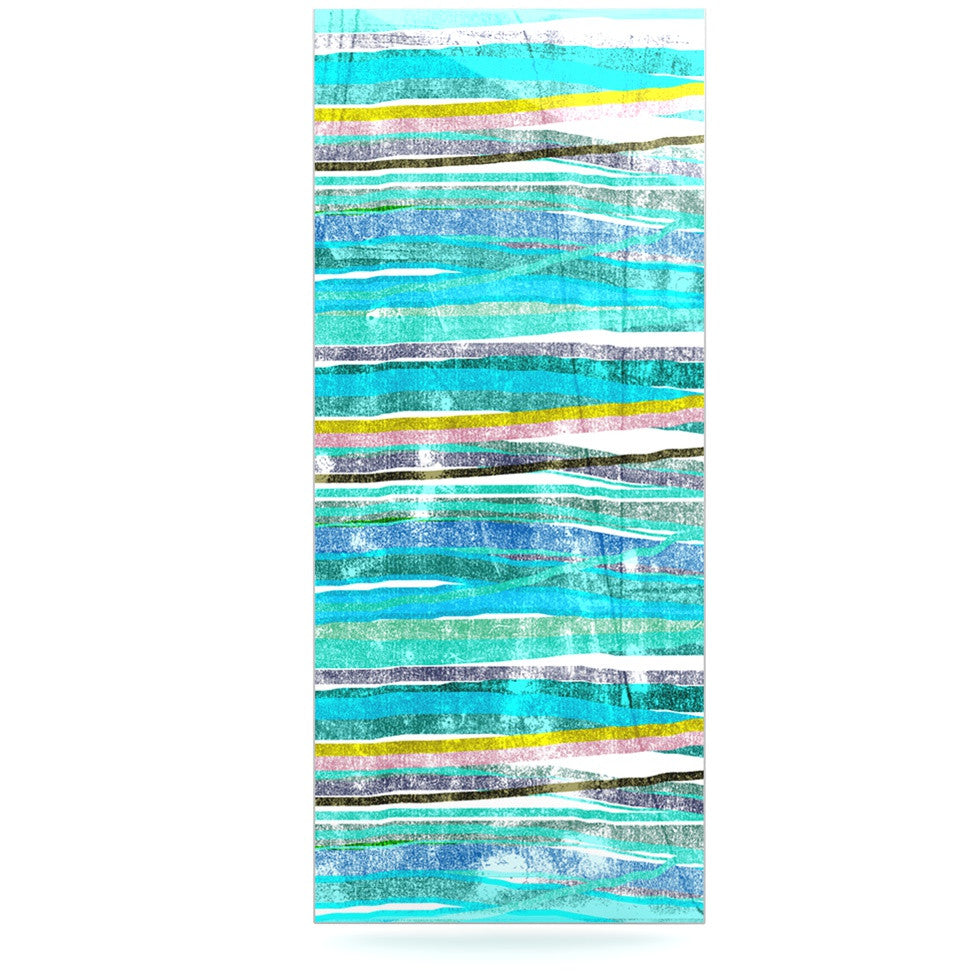 "Frederic Levy-Hadida ""Fancy Stripes Acqua"" Luxe Rectangle Panel - KESS InHouse  - 1"