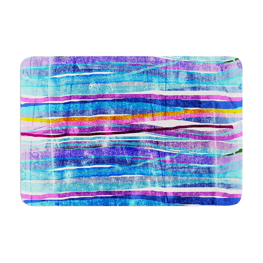"Frederic Levy-Hadida ""Fancy Stripes Dark Blue"" Memory Foam Bath Mat - KESS InHouse"