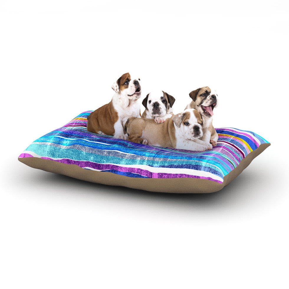 "Frederic Levy-Hadida ""Fancy Stripes Dark Blue"" Dog Bed - KESS InHouse  - 1"