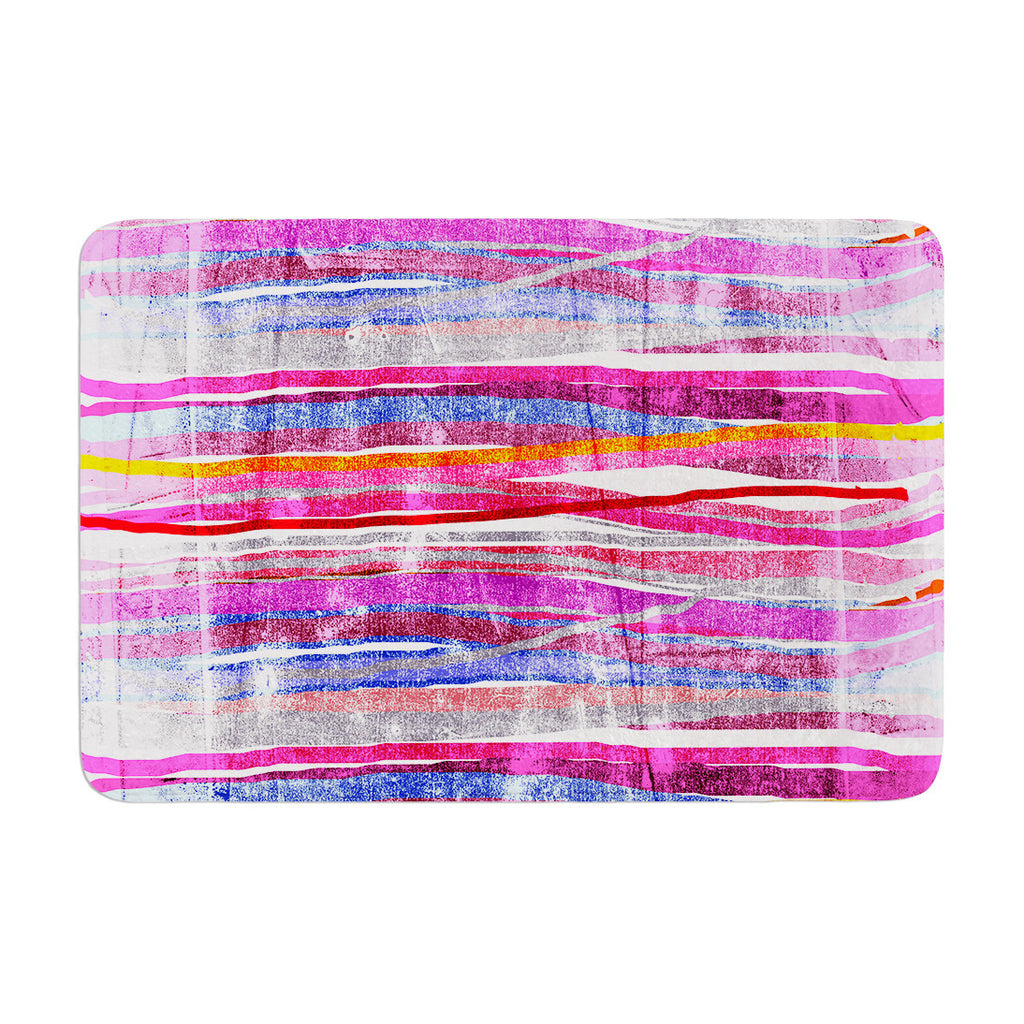"Frederic Levy-Hadida ""Fancy Stripes Pink"" Memory Foam Bath Mat - KESS InHouse"