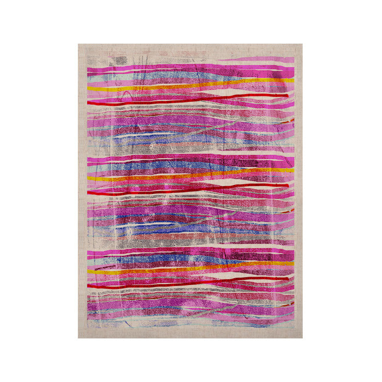 "Frederic Levy-Hadida ""Fancy Stripes Pink"" KESS Naturals Canvas (Frame not Included) - KESS InHouse  - 1"