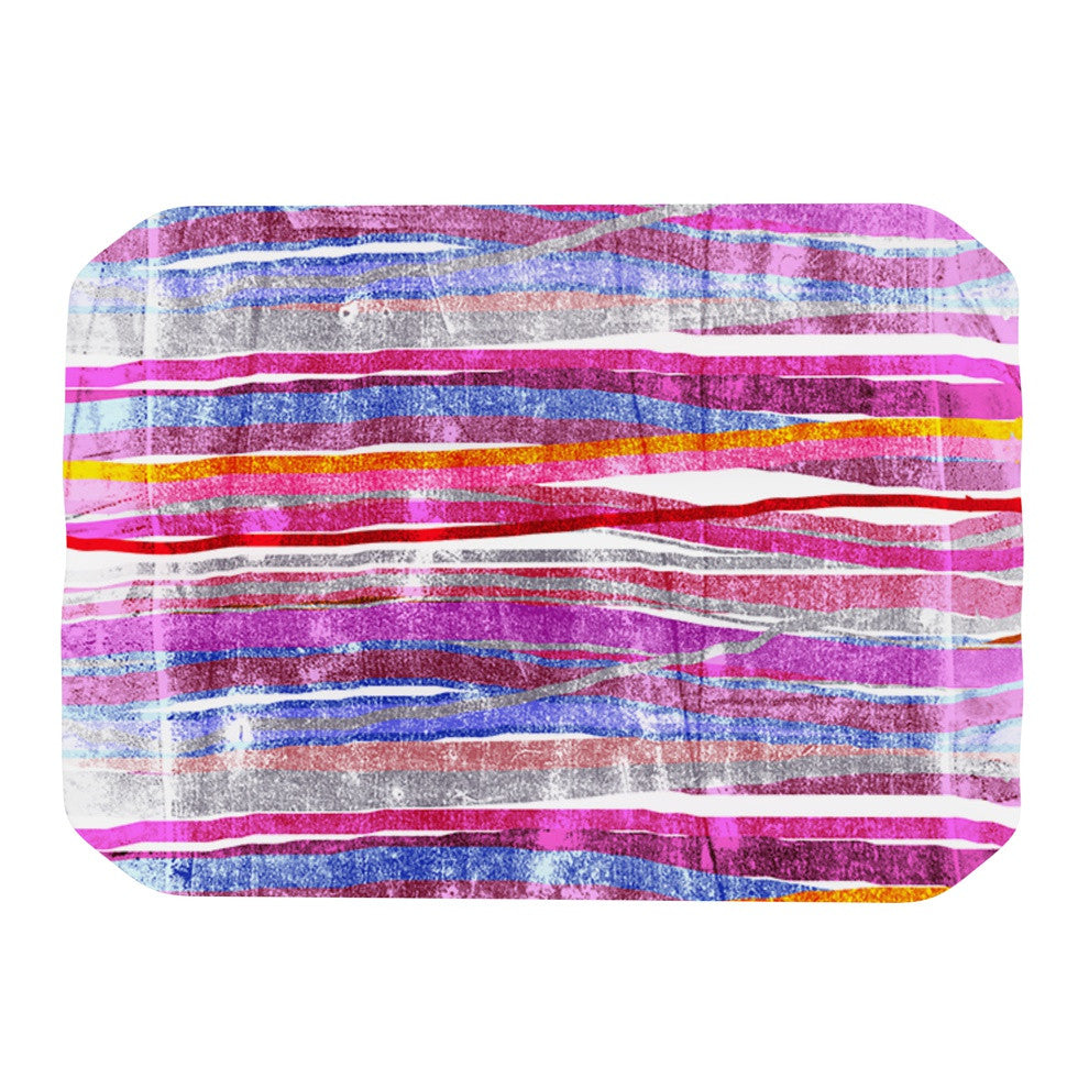 "Frederic Levy-Hadida ""Fancy Stripes Pink"" Place Mat - KESS InHouse"