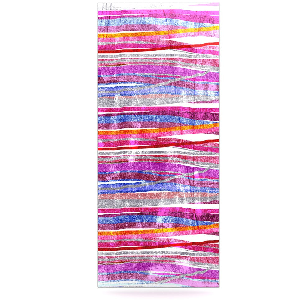 "Frederic Levy-Hadida ""Fancy Stripes Pink"" Luxe Rectangle Panel - KESS InHouse  - 1"