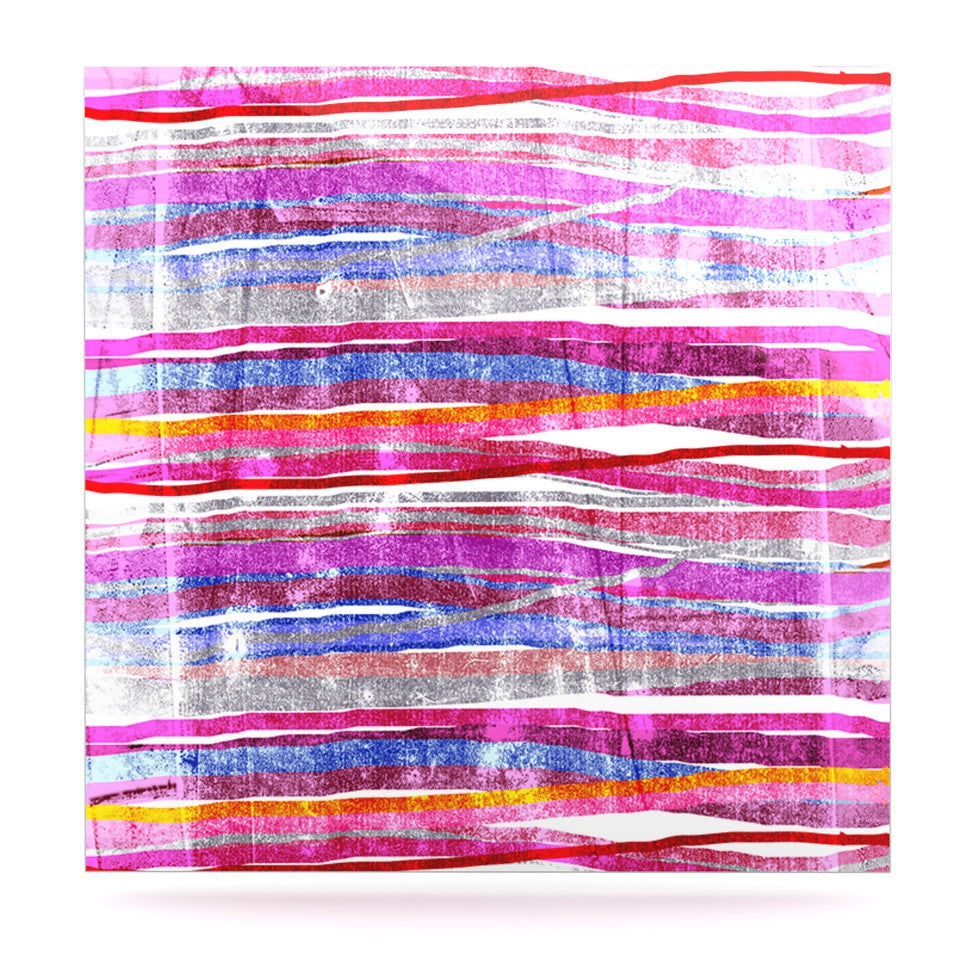 "Frederic Levy-Hadida ""Fancy Stripes Pink"" Luxe Square Panel - KESS InHouse  - 1"
