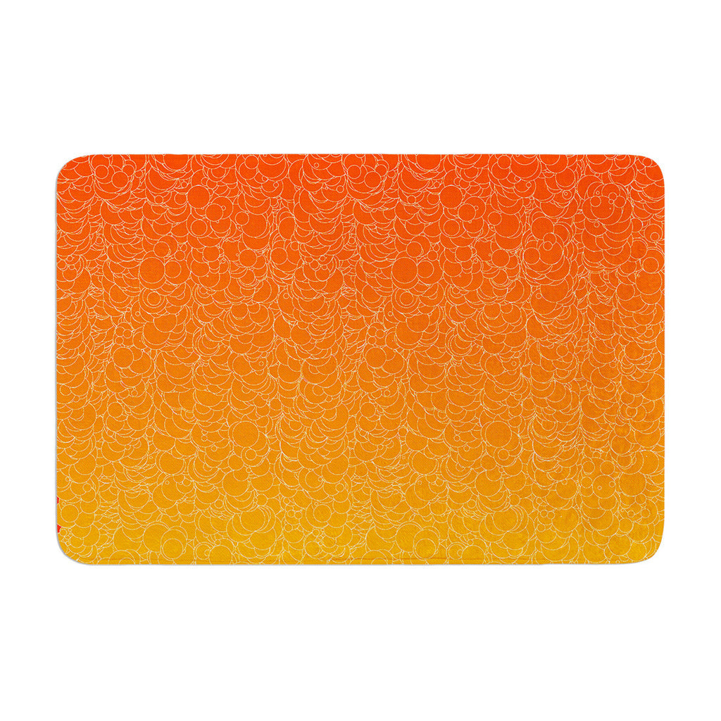 "Frederic Levy-Hadida ""Bubbling Red"" Memory Foam Bath Mat - KESS InHouse"