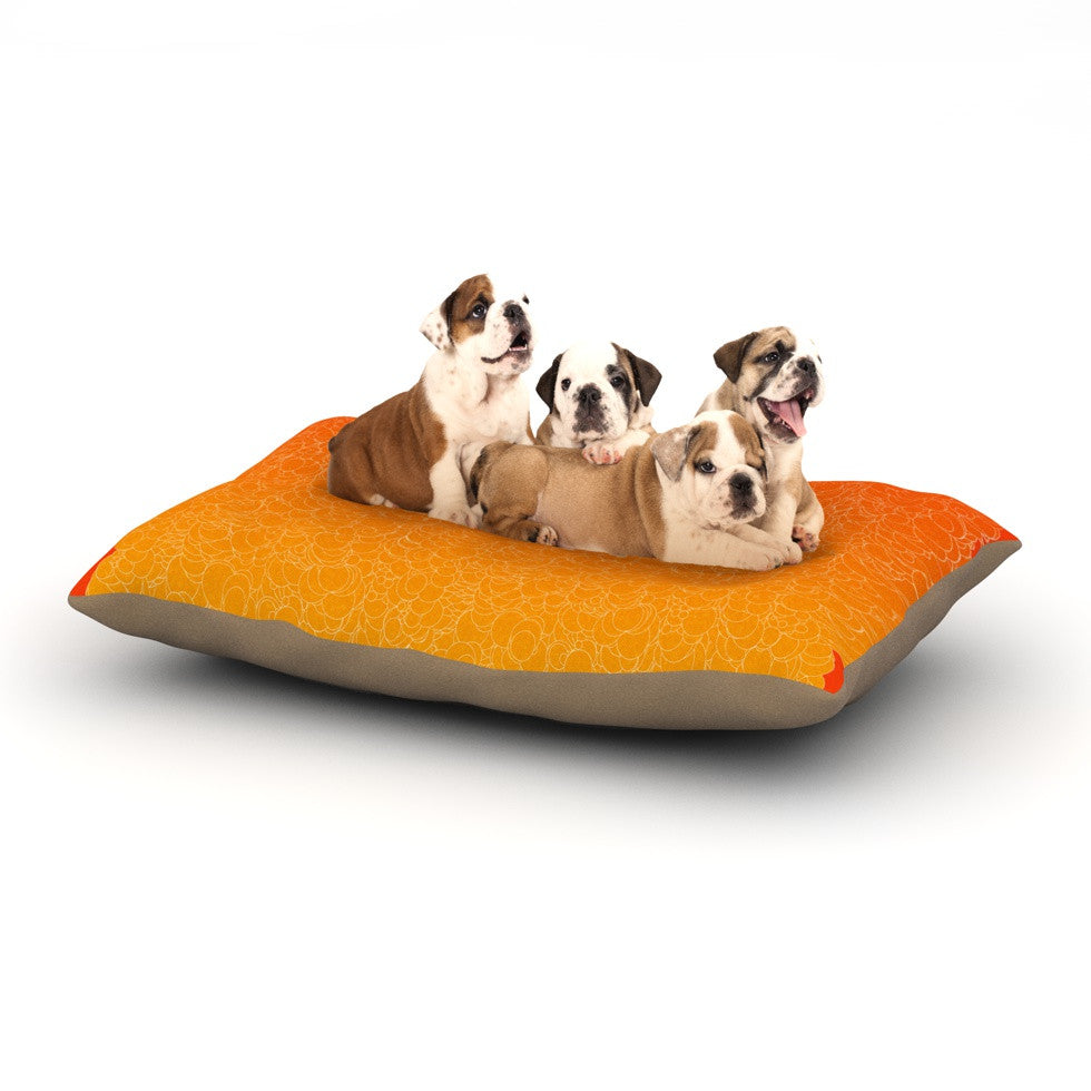 "Frederic Levy-Hadida ""Bubbling Red"" Dog Bed - KESS InHouse  - 1"