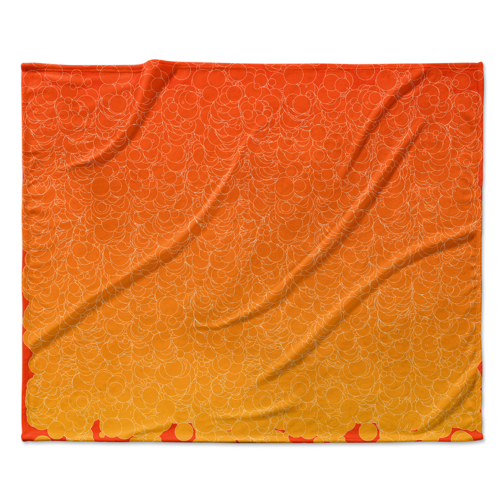 "Frederic Levy-Hadida ""Bubbling Red"" Fleece Throw Blanket"