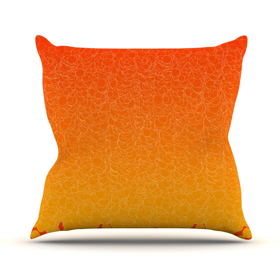 "Frederic Levy-Hadida ""Bubbling Red"" Throw Pillow - KESS InHouse  - 1"