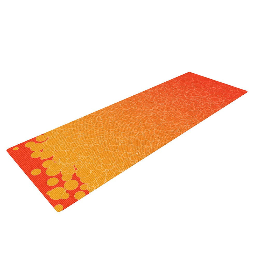 "Frederic Levy-Hadida ""Bubbling Red"" Yoga Mat - KESS InHouse  - 1"