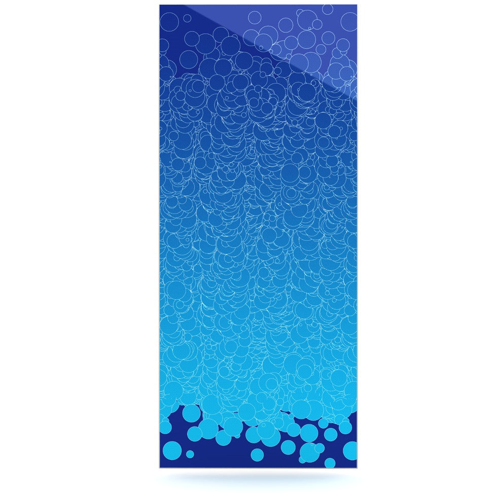 "Frederic Levy-Hadida ""Bubbling Blue"" Luxe Rectangle Panel - KESS InHouse  - 1"