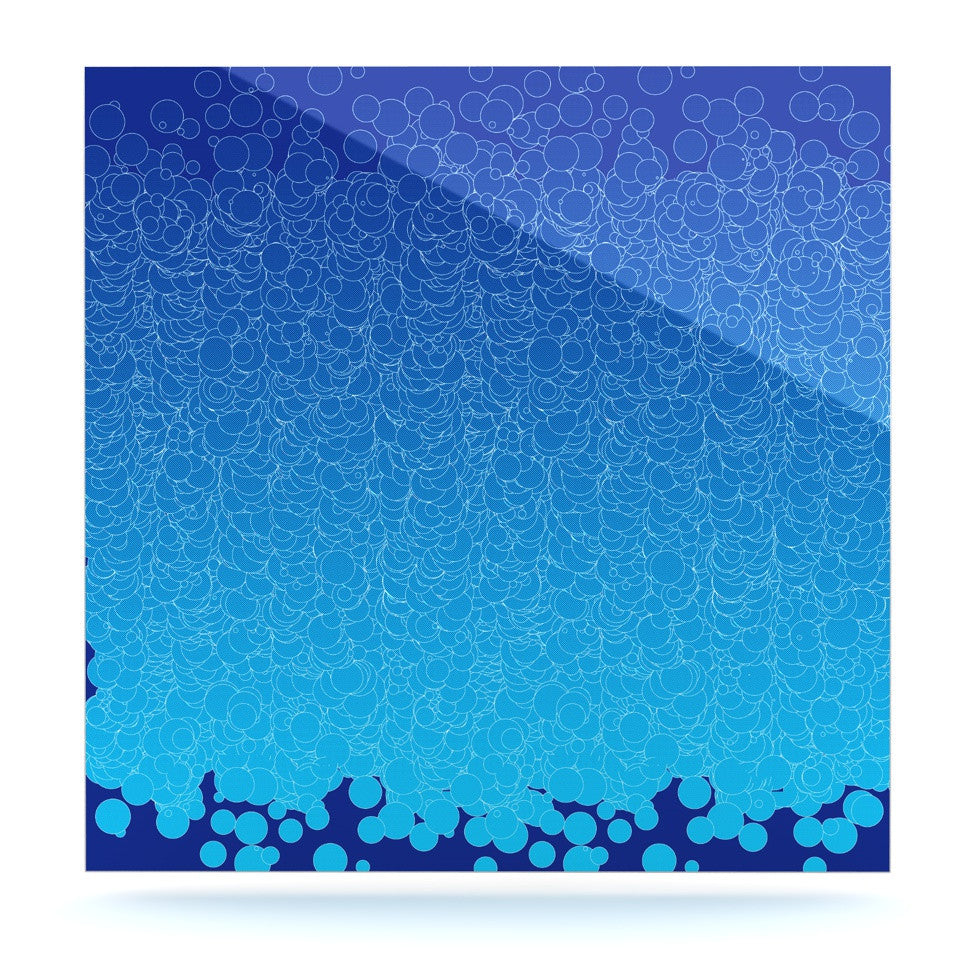 "Frederic Levy-Hadida ""Bubbling Blue"" Luxe Square Panel - KESS InHouse  - 1"