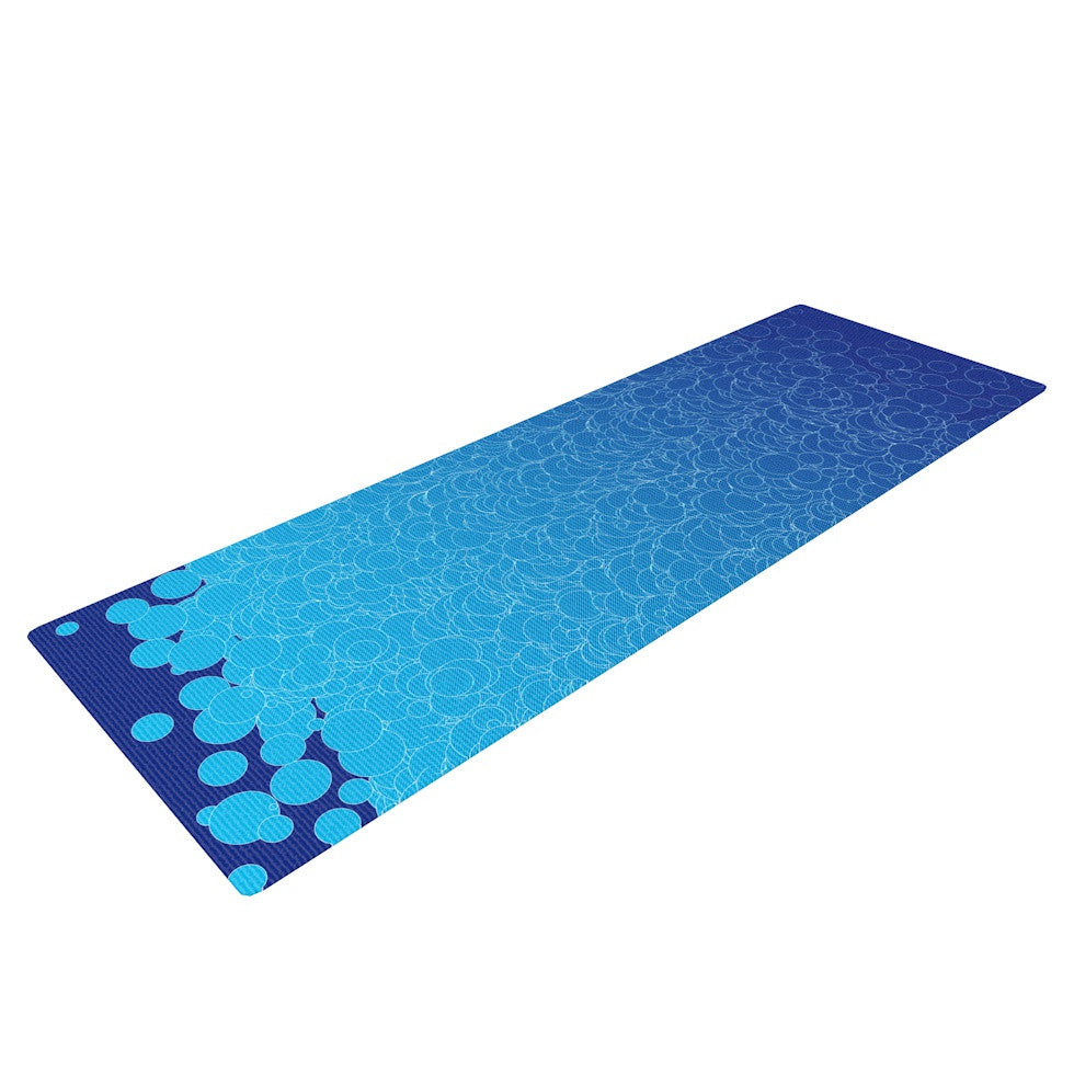"Frederic Levy-Hadida ""Bubbling Blue"" Yoga Mat - KESS InHouse  - 1"
