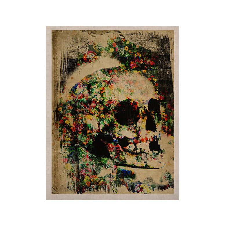"Frederic Levy-Hadida ""Floral Skully"" KESS Naturals Canvas (Frame not Included) - KESS InHouse  - 1"