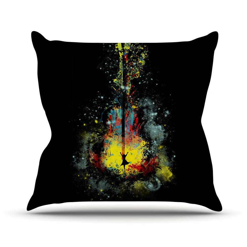 "Frederic Levy-Hadida ""Midnight Syphony"" Outdoor Throw Pillow - KESS InHouse  - 1"