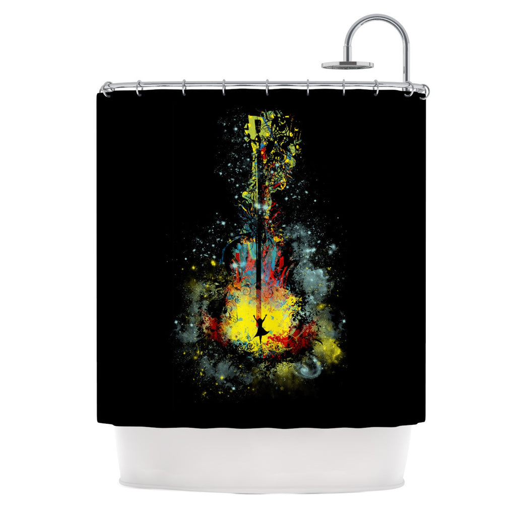 "Frederic Levy-Hadida ""Midnight Syphony"" Shower Curtain - KESS InHouse"