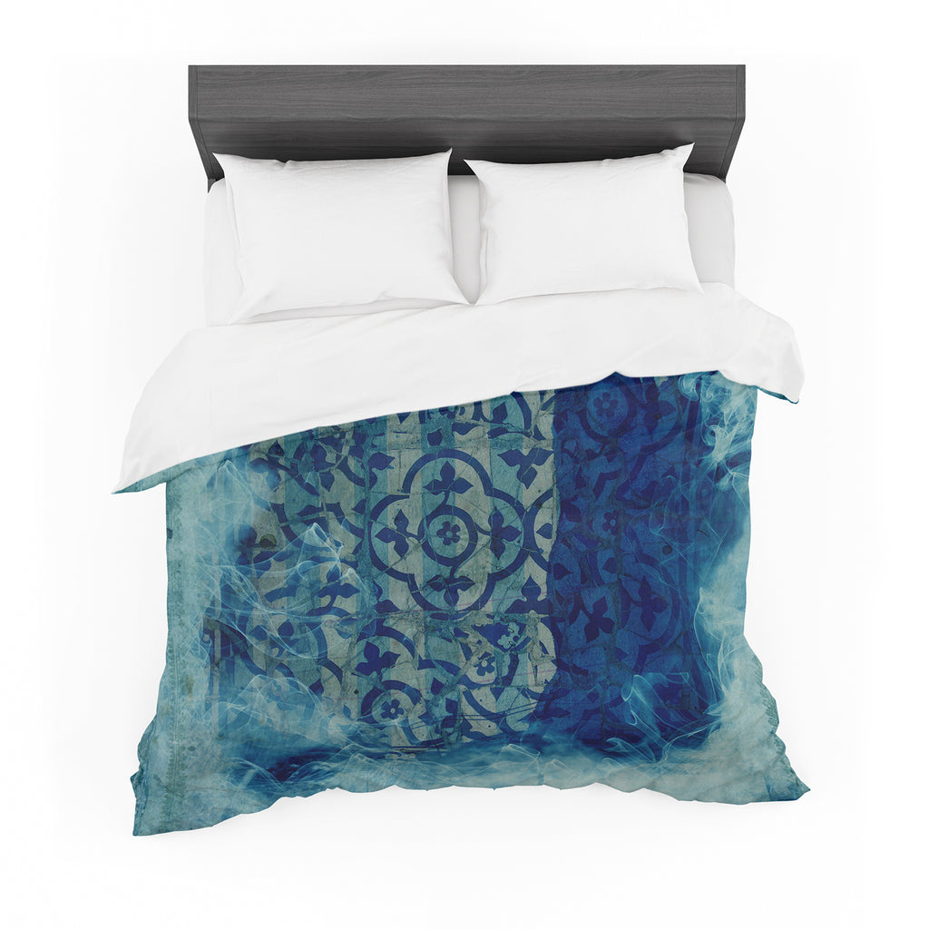 "Frederic Levy-Hadida ""Mosaic in Cyan"" Featherweight Duvet Cover"
