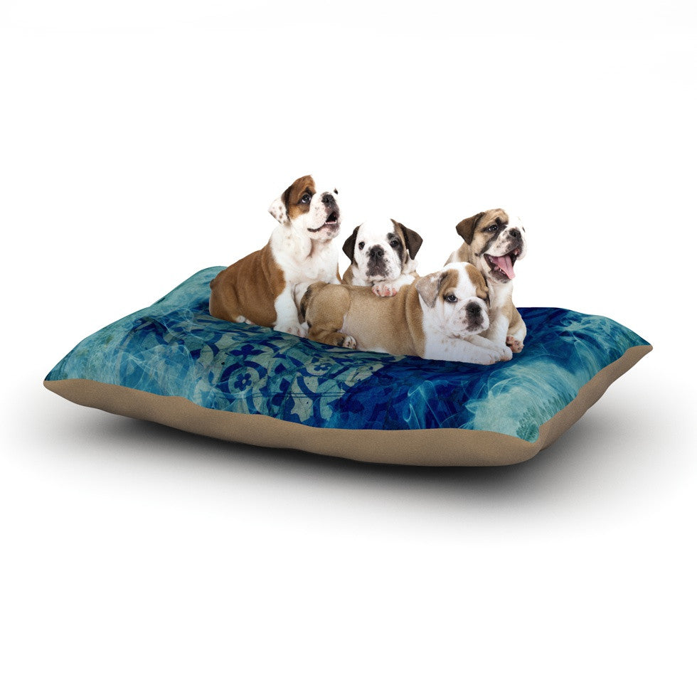 "Frederic Levy-Hadida ""Mosaic in Cyan"" Dog Bed - KESS InHouse  - 1"