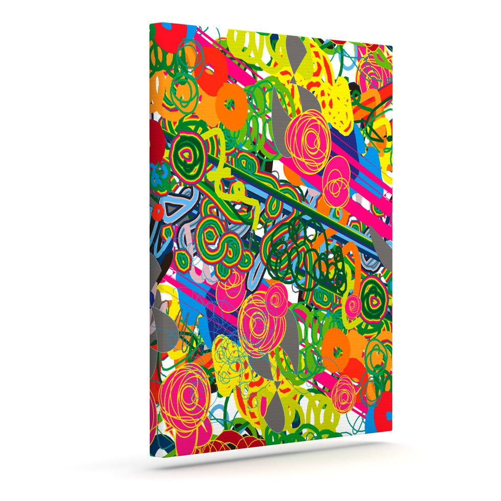 "Frederic Levy-Hadida ""Psychedelic Garden"" Outdoor Canvas Wall Art - KESS InHouse  - 1"