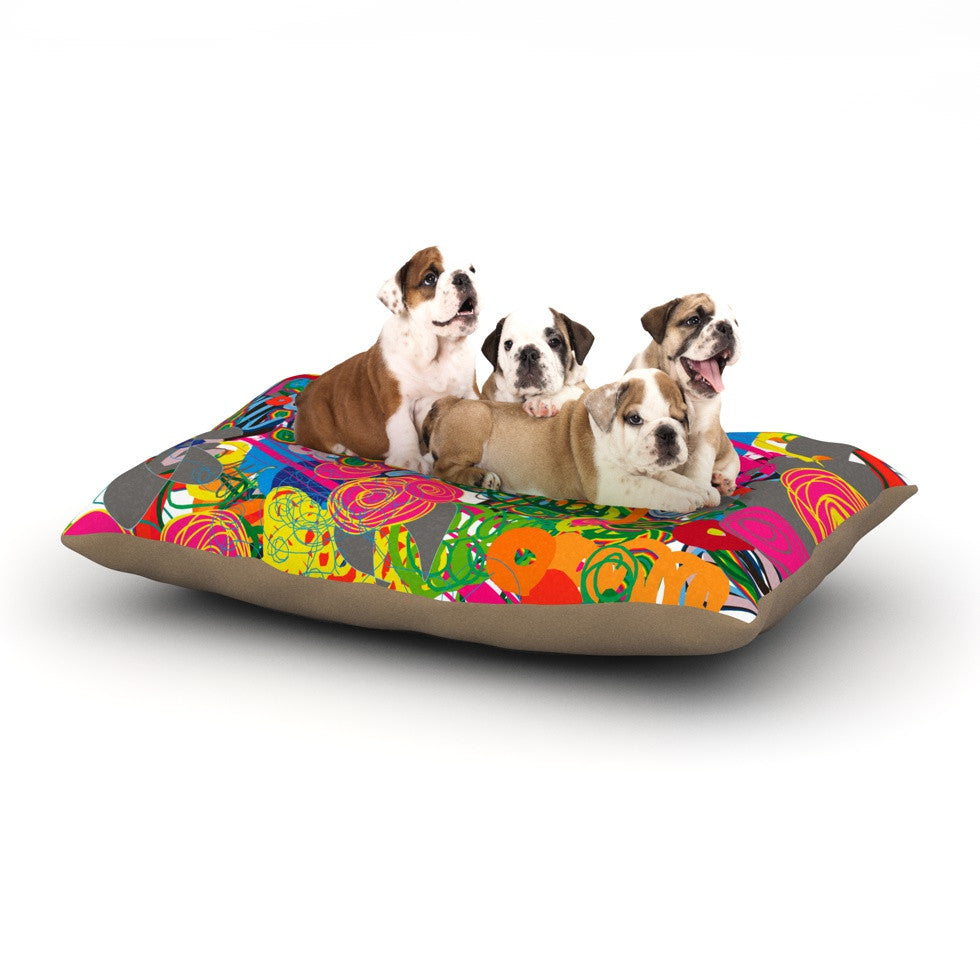 "Frederic Levy-Hadida ""Psychedelic Garden"" Dog Bed - KESS InHouse  - 1"