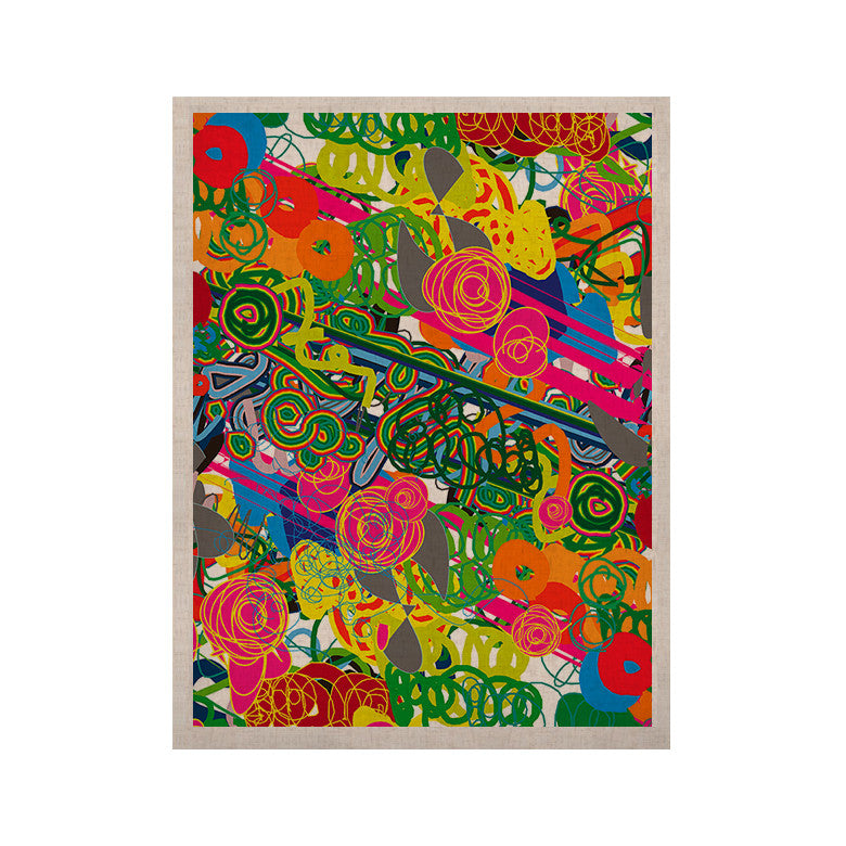"Frederic Levy-Hadida ""Psychedelic Garden"" KESS Naturals Canvas (Frame not Included) - KESS InHouse  - 1"