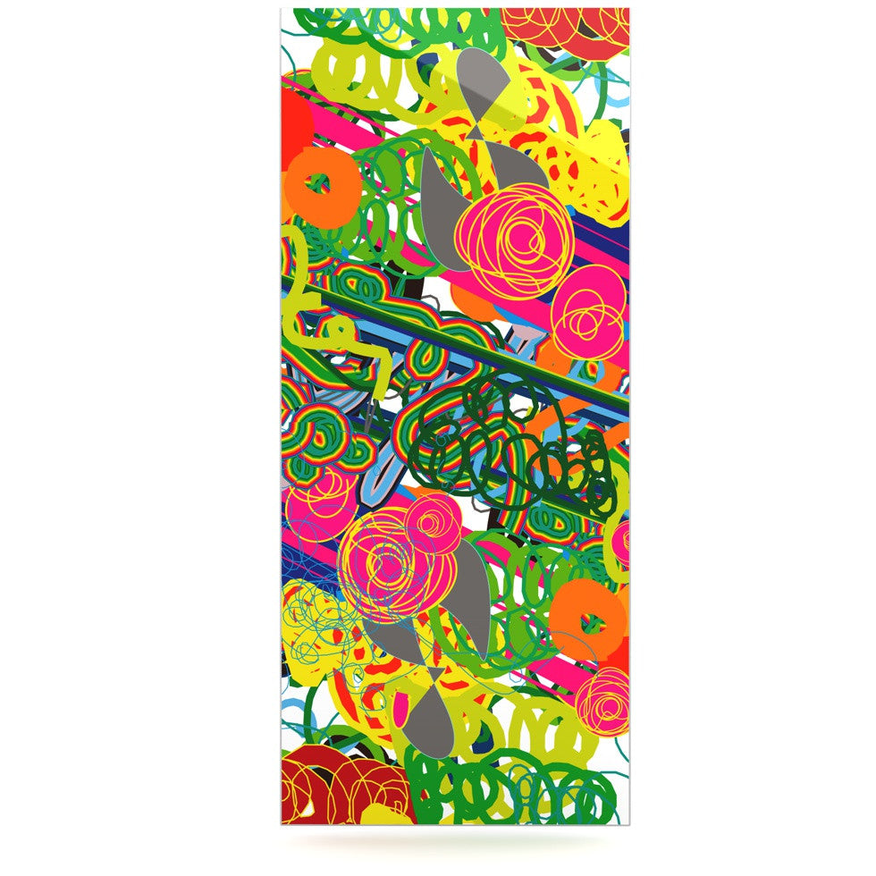 "Frederic Levy-Hadida ""Psychedelic Garden"" Luxe Rectangle Panel - KESS InHouse  - 1"