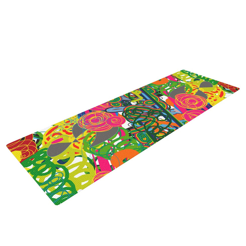 "Frederic Levy-Hadida ""Psychedelic Garden"" Yoga Mat - KESS InHouse  - 1"