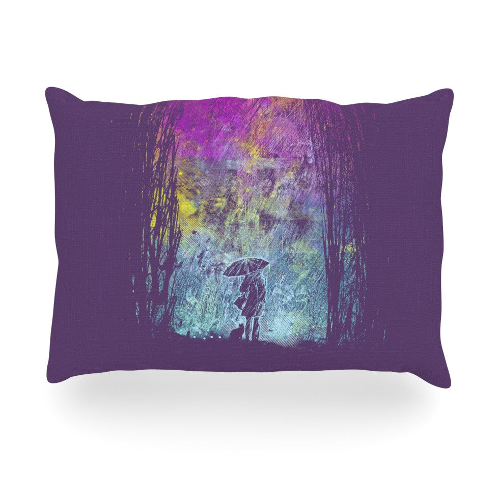 "Frederic Levy-Hadida ""Purple Rain"" Oblong Pillow - KESS InHouse"