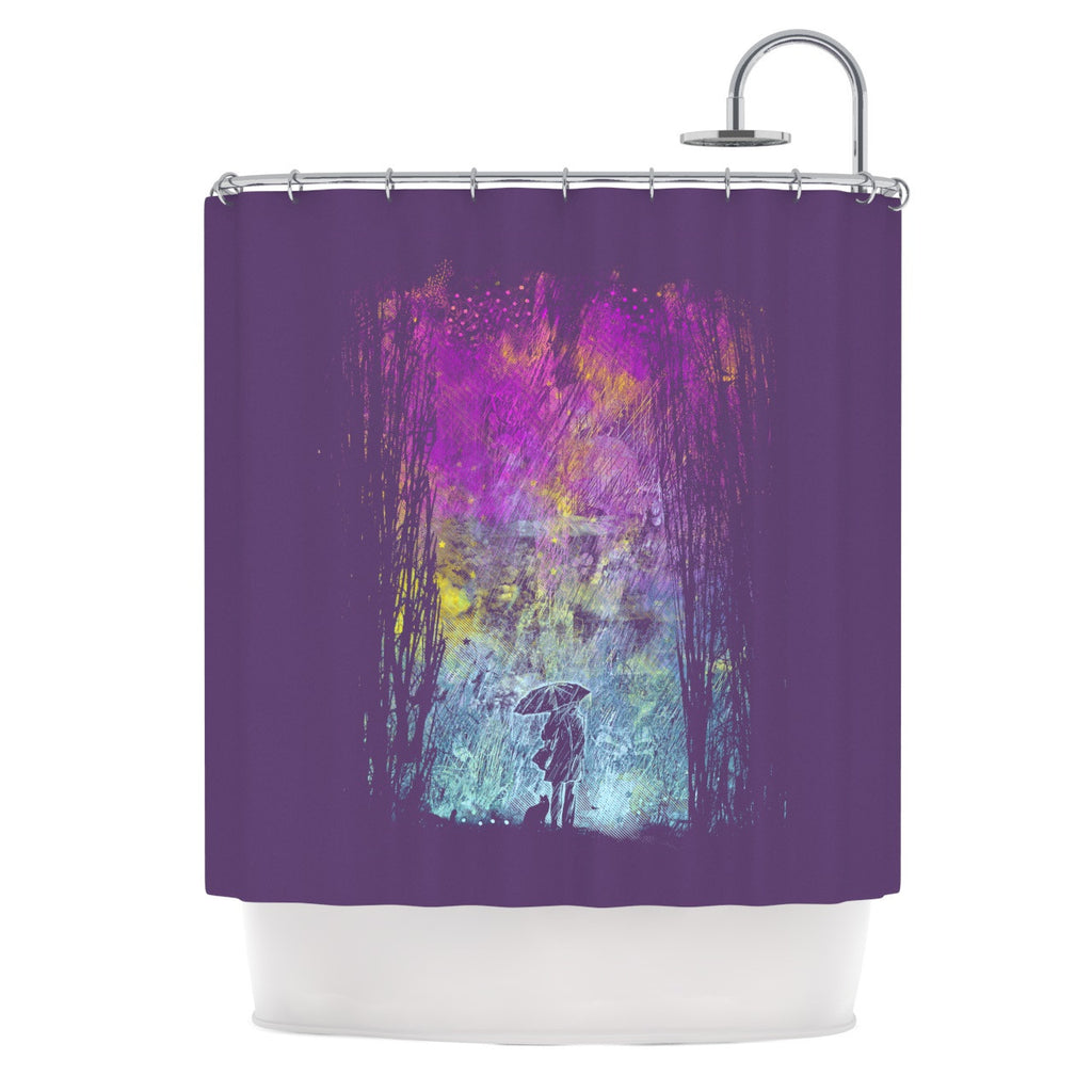 "Frederic Levy-Hadida ""Purple Rain"" Shower Curtain - KESS InHouse"