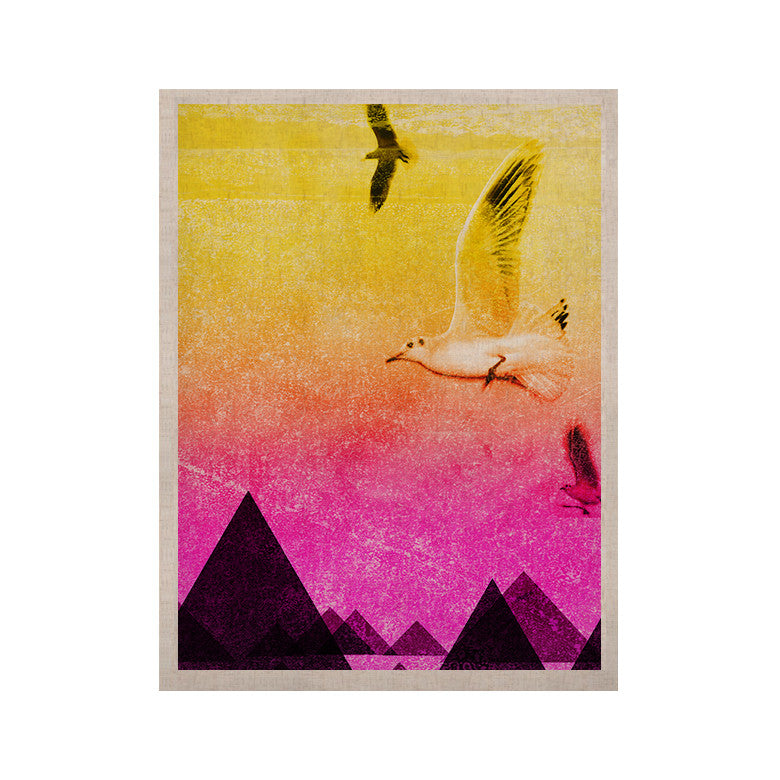 "Frederic Levy-Hadida ""Seagulls in Shiny Sky"" KESS Naturals Canvas (Frame not Included) - KESS InHouse  - 1"