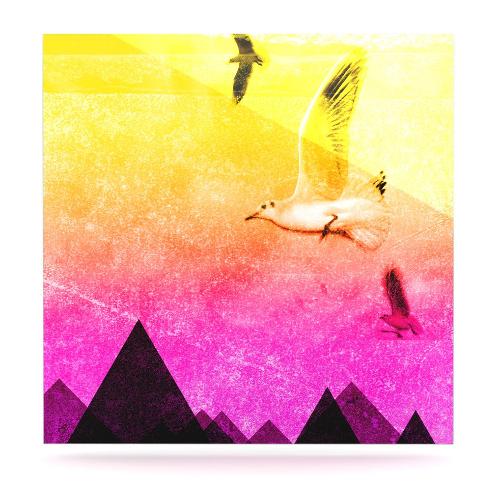 "Frederic Levy-Hadida ""Seagulls in Shiny Sky"" Luxe Square Panel - KESS InHouse  - 1"