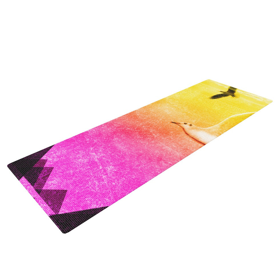 "Frederic Levy-Hadida ""Seagulls in Shiny Sky"" Yoga Mat - KESS InHouse  - 1"