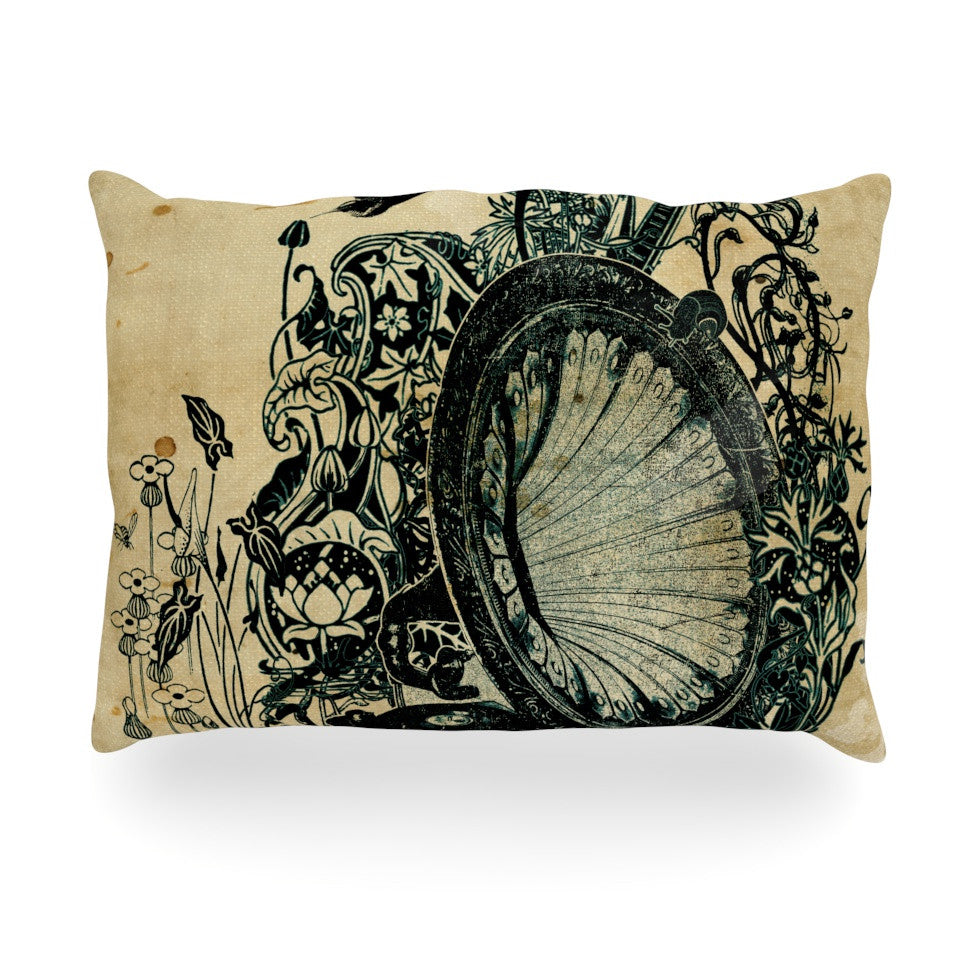 "Frederic Levy-Hadida ""Sound of Nature"" Oblong Pillow - KESS InHouse"