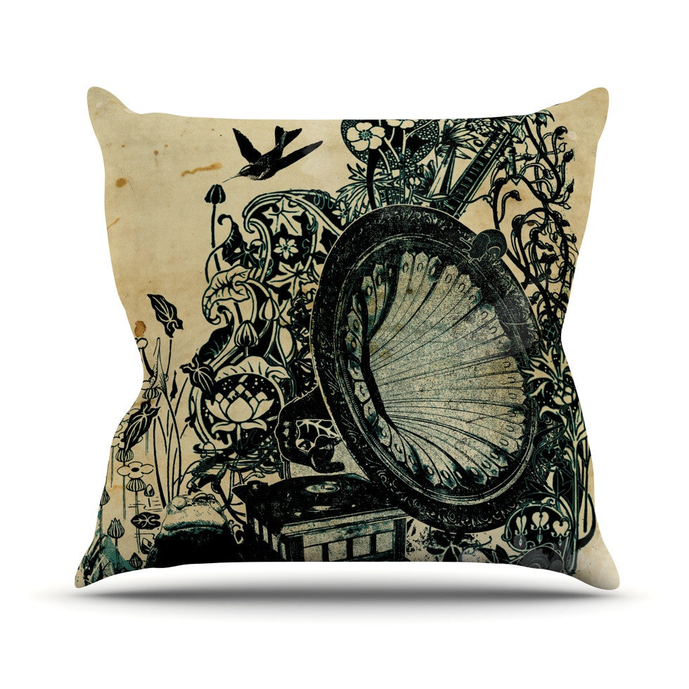 "Frederic Levy-Hadida ""Sound of Nature"" Throw Pillow - KESS InHouse  - 1"